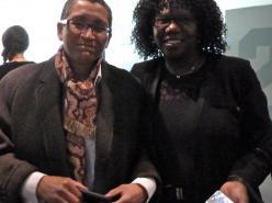 Linda Bellos et Femi Otitoju sur le panel de discussion après la présentation de Lesbian à Londres.